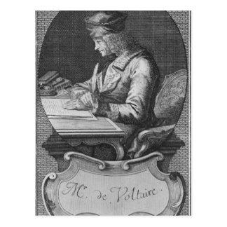 Portrait of Voltaire at Ferney Postcard