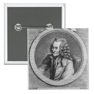 Portrait of Voltaire, from a drawing 2 Inch Square Button