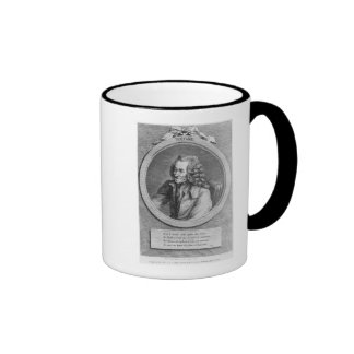 Portrait of Voltaire, from a drawing Ringer Coffee Mug