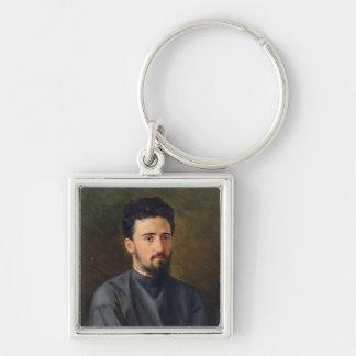 Portrait of Vsevolod M. Garshin, 1878 Keychain