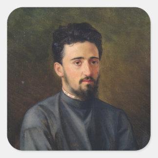 Portrait of Vsevolod M. Garshin, 1878 Square Sticker