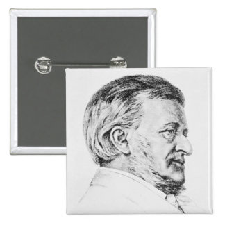 Portrait of Wagner, 19th century Pinback Button