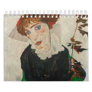 Portrait of Wally by Egon Schiele Calendar