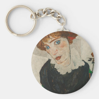 Portrait of Wally by Egon Schiele Keychain