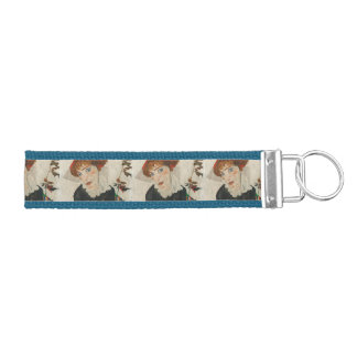 Portrait of Wally by Egon Schiele Wrist Keychain