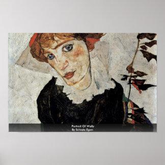 Portrait Of Wally By Schiele Egon Print