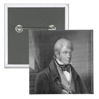 Portrait of Walter Scott 2 Inch Square Button