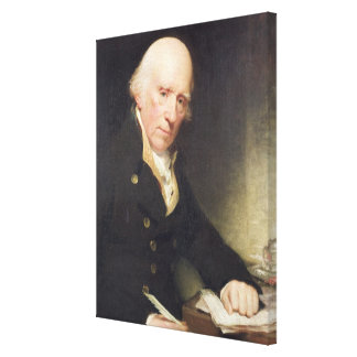 Portrait of Warren Hastings (1732-1818) at his Des Canvas Print