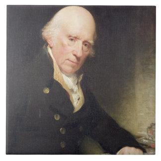 Portrait of Warren Hastings (1732-1818) at his Des Large Square Tile