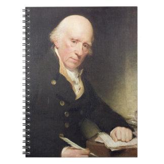 Portrait of Warren Hastings (1732-1818) at his Des Notebook