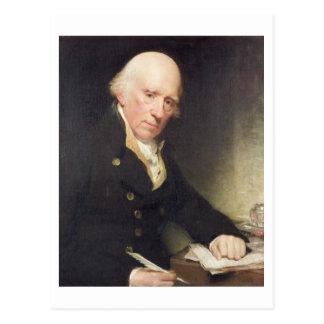 Portrait of Warren Hastings (1732-1818) at his Des Postcard