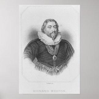 Portrait of Weston 'Lodge's British Portraits' Print