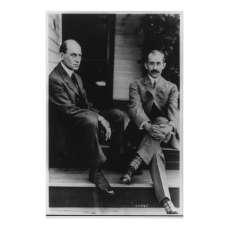 Portrait of Wilbur Wright and Orville Wright Poster