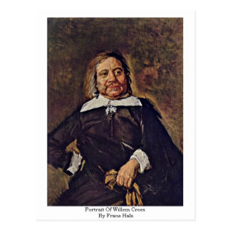 Portrait Of Willem Croes. By Frans Hals Postcard
