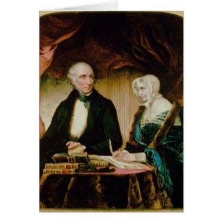 Portrait of William and Mary Wordsworth, 1839 Card