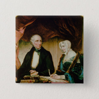Portrait of William and Mary Wordsworth, 1839 Pinback Button