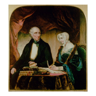 Portrait of William and Mary Wordsworth, 1839 Poster