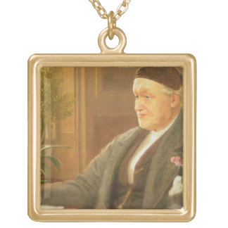 Portrait of William Bell Scott (1811-90), 1886 (oi Gold Plated Necklace