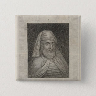 Portrait of William Caxton  and his Printer's Button