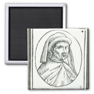 Portrait of William Caxton  and his Printer's Magnet