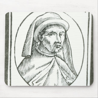 Portrait of William Caxton  and his Printer's Mouse Pad