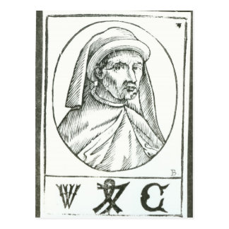 Portrait of William Caxton  and his Printer's Postcard