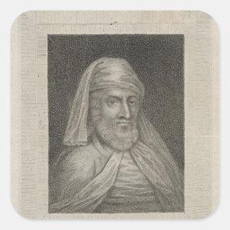 Portrait of William Caxton  and his Printer's Square Sticker
