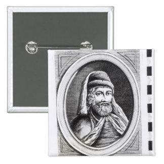 Portrait of William Caxton Button