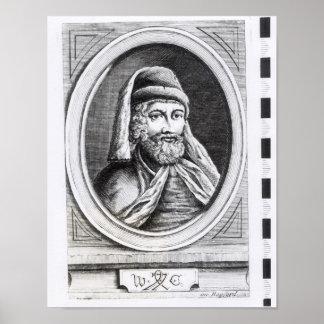 Portrait of William Caxton Poster