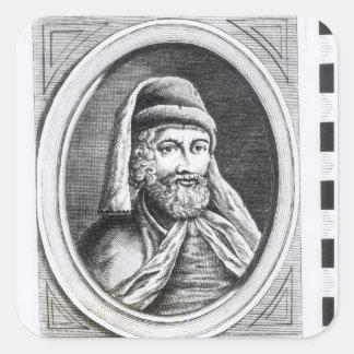 Portrait of William Caxton Square Sticker