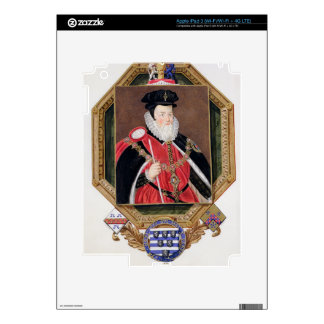 Portrait of William Cecil (1520-98) 1st Baron Burg Decal For iPad 3