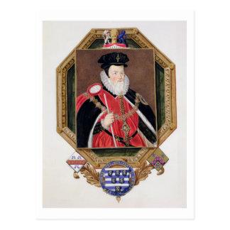 Portrait of William Cecil (1520-98) 1st Baron Burg Postcard