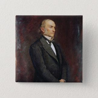 Portrait of William Ewart Galdstone  1879 Button