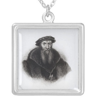 Portrait of William, First Lord Paget Silver Plated Necklace