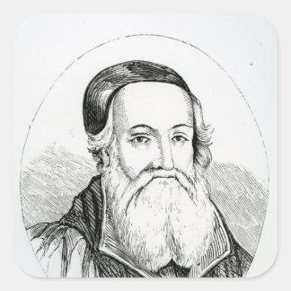Portrait of William Grindal Square Sticker