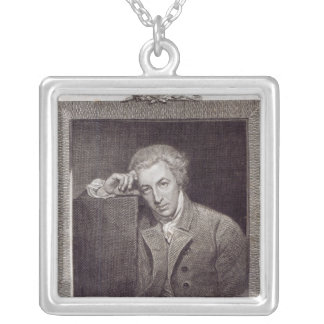 Portrait of William Hayley Silver Plated Necklace
