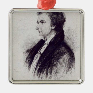 Portrait of William Hazlitt Metal Ornament