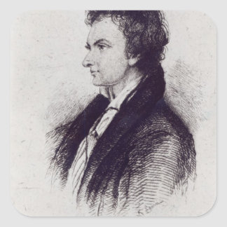 Portrait of William Hazlitt Square Sticker