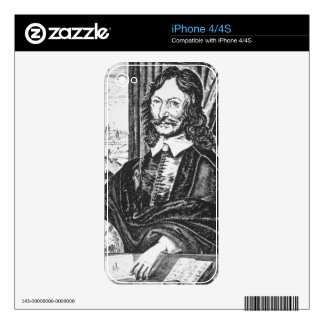 Portrait of William Lilly (1602-81), from his 'Chr iPhone 4S Skins