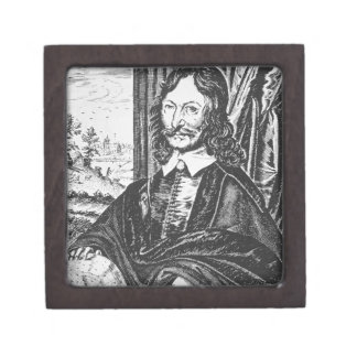 Portrait of William Lilly (1602-81), from his 'Chr Jewelry Box