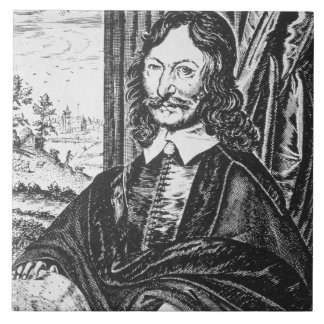 Portrait of William Lilly (1602-81), from his 'Chr Tile