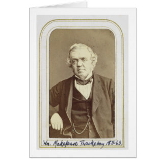 Portrait of William Makepeace Thackeray (1811-63) Card