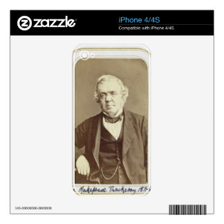 Portrait of William Makepeace Thackeray (1811-63) iPhone 4 Decals