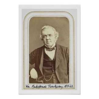Portrait of William Makepeace Thackeray (1811-63) Poster