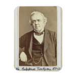 Portrait of William Makepeace Thackeray (1811-63) Rectangle Magnets