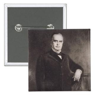 Portrait of William McKinley (litho) Button