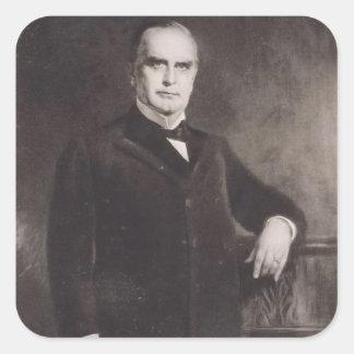 Portrait of William McKinley (litho) Square Sticker