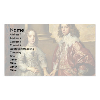 Portrait Of William Of Orange As A Prince Business Cards
