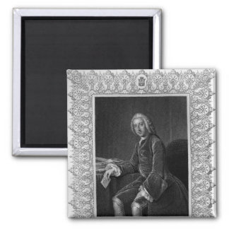 Portrait of William Pitt, 1st Earl of Chatham 2 Inch Square Magnet