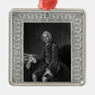Portrait of William Pitt, 1st Earl of Chatham Metal Ornament